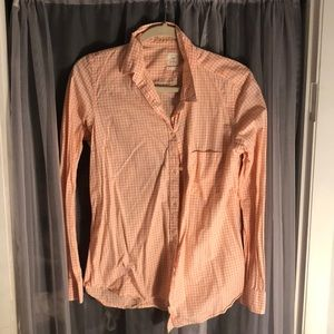 Peach Checkered Blouse